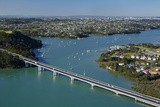 Upper Harbour Bridge  Waitemata Harbour  Auckland  North Island  New Zealand