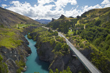 Bridge over Kawarau River  Kawarau Gorge  South Island  New Zealand