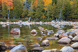 Maine  Acadia National Park  Fall Reflections at Jordon Pond