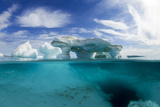 Canada  Underwater View of Melting Iceberg  Nunavut Territory