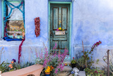 Colorful Doorway in the Barrio Viejo District of Tucson  Arizona  Usa