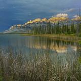 Sunrise at Miette Range  Talbot Lake  Jasper National Park  Alberta  Canada