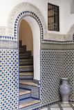 Morocco  Fes Interior Detail of a Restored Riad
