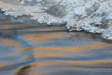 Utah  Abstract Frozen Ice Pattern and Waters of Mill Creek  Moab