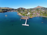 Jetty  Portobello  Otago Peninsula  and Otago Harbour  Dunedin  South Island  New Zealand