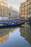 Gondola Parking Venice Italy