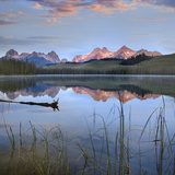 Sawtooth Range at Little Redfish Lake  Sawtooth National Recreation Area  Idaho  Usa