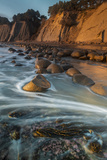 California Bowling Ball Beach at Low Tide at Sunset  in Mendocino County