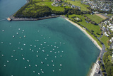 Yachts at Okahu Bay  and Bastion Point  Auckland  North Island  New Zealand