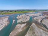 Waitaki River Near Coast  North Otago  South Canterbury Border  South Island  New Zealand