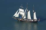 Spirit of New Zealand Tall Ship  Waitemata Harbour  Auckland  North Island  New Zealand