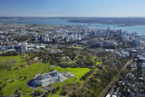 Aerial of Auckland  North Island  New Zealand
