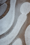 Utah Abstract Design of Frozen Bubble Patterns in Stream  Hunter Canyon  Near Moab