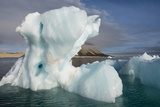 Norway  Barents Sea  Palander Bay  Zeipelodden Large Iceberg in Palander Bay