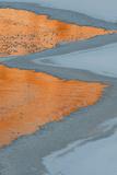 Utah  Colorado River Ice and Canyon Wall Reflections  Moab