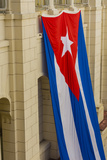 Cuba Havana Giant Cuban Flag Hanging in an Interior Courtyard