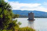 The Spanish Windmill on the Lagoon of Orbetello  Orbetello  Grosseto Province  Tuscany  Italy