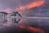 Vestrahorn Mountain in Winter Near Hofn  Iceland