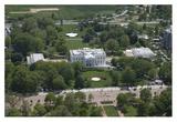 Aerial view of the White House  Washington  DC