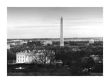 Dawn over the White House  Washington Monument  and Jefferson Memorial  Washington  DC - Black an