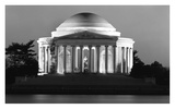 Jefferson Memorial  Washington  DC - Black and White Variant