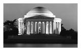 Jefferson Memorial  Washington  DC - Black and White Variant