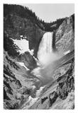 Yellowstone Falls, Yellowstone National Park, Wyoming. ca. 1941-1942 Reproduction d'art par Ansel Adams