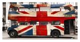 Union jack double-decker bus  London