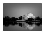 Jefferson Memorial  Washington  DC Number 2 - Black and White Variant