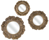 Sunflower Wall Mirror Trio