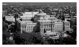 Thomas Jefferson Building from the US Capitol dome  Washington  DC - B&W