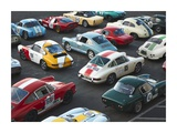 Vintage sport cars at Grand Prix  Nurburgring