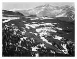 Long's Peak, in Rocky Mountain National Park, Colorado, ca. 1941-1942 Reproduction d'art par Ansel Adams