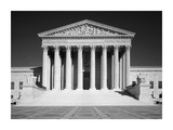 US Supreme Court building  Washington  DC - B&W