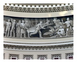Wright Brothers frieze in US Capitol dome  Washington  DC