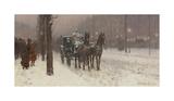 Street Scene with Hansom Cab  1887