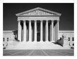 US Supreme Court building  Washington  DC - B&W