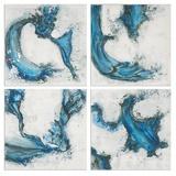Swirls In Blue Abstract Art Set