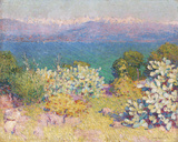 In the Morning, Alpes Maritime from from Antibes Giclée par John Peter Russell