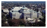 Thomas Jefferson Building from the US Capitol dome  Washington  DC - Vintage Tint