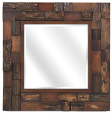 Dario Wood Slat Mirror *