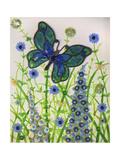 Butterflies  Green and Blue  2016
