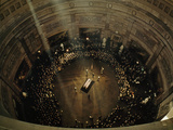 John F Kennedy's Coffin Lies in State Beneath the Capitol's Dome