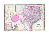 Johnson's New map of Texas