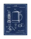 Beer Stein 1914 Blue