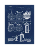Brewery Patent 1891 Blue