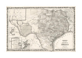 Map of Texas Giclée par Bill Cannon