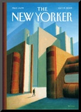 In the World of Books - The New Yorker Cover  October 19  2009