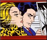 In the Car, c.1963 Reproduction montée par Roy Lichtenstein