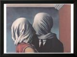 Les Amants (Lovers) Reproduction encadrée par Rene Magritte